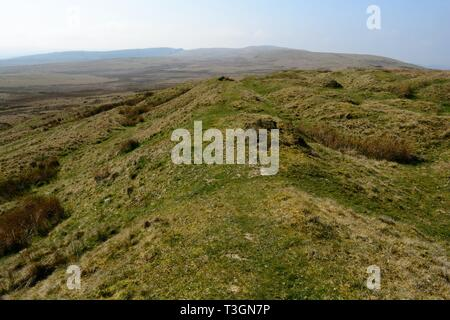 Pigwn Roman marching Camps remains Trecastle Trecastlell Brecon Beacons National Park Wales Cymru UK - Stock Image