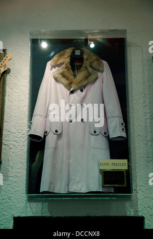 Elvis Presley coat on display at the Lansky Brothers clothes store in the Peabody Hotel in Memphis Tennessee USA - Stock Image