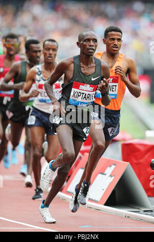 Dominic Chemut KIPTARUS (Kenya) competing in the Men's 5000m Final at the 2018, IAAF Diamond League, Anniversary Games, Queen Elizabeth Olympic Park, Stratford, London, UK. - Stock Image