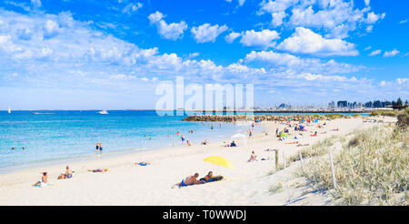 South Beach on a summer day. Fremantle, Western Australia - Stock Image