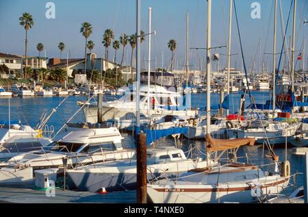 California Oxnard Channel Islands Harbor marina - Stock Image