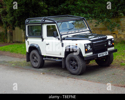 Although discontinued by the Manufacturer a 2018 registered  Land Rover vehicle in Stokesley North Yorkshire May 2019 - Stock Image