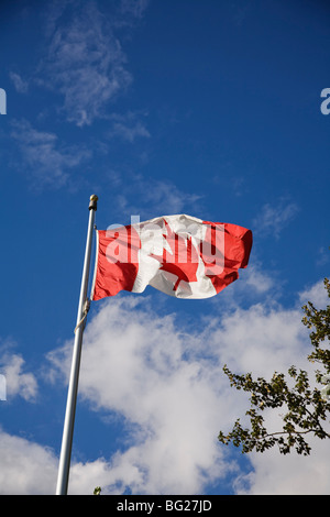 Flag of Canada, Port Moody, BC, Canada - Stock Image