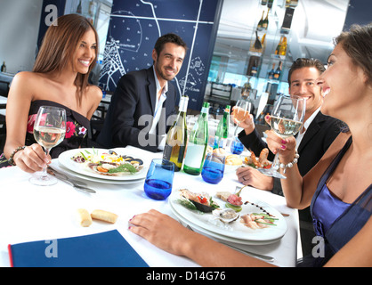 Friends restaurant - Stock Image