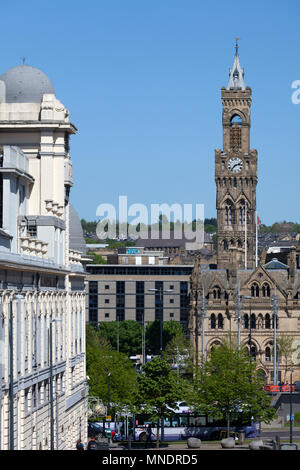 Alhambra Theatre and City Hall, Bradford, West Yorkshire - Stock Image
