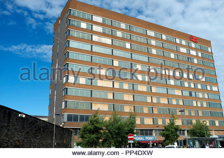 Signal Point - the disused former British Rail office block building, adjacent to Swindon railway station, in Swindown, Wiltshire, UK. - Stock Image