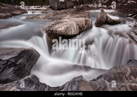 Kicking Horse River Yoho National Park - Stock Image