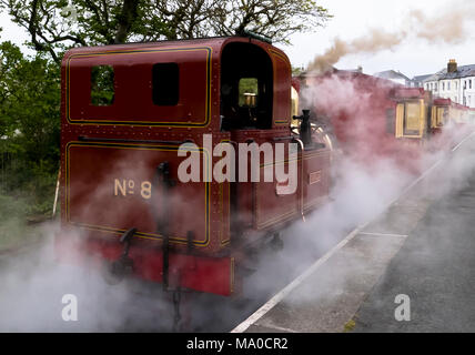 RS 8052  Isle of Man Steam Railway, Port Erin Station, Isle of Man, UK - Stock Image