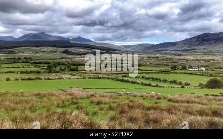 Isle of Arran countryside, on a cloudy day - Stock Image