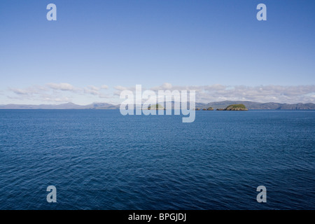 The Shiant Islands from The Minch with the Isle of Harris in the background - Stock Image