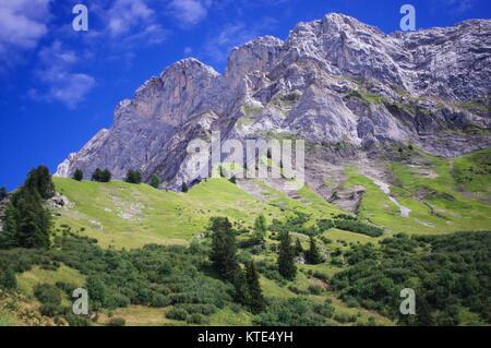 Villars-sur-ollon, Vaude, Switzerland. l'argentine mountain in the Swiss Alps. Suisse. - Stock Image