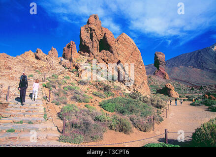 Roques de Garcia. Teide National Park, Tenerife, Canary Islands, Spain. - Stock Image