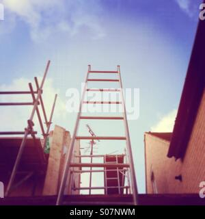 Ladder at a construction site - Stock Image