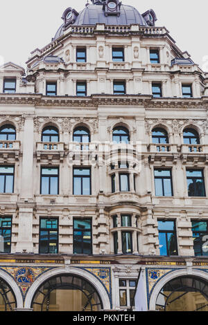 LONDON, UNITED KINGDOM - August 16th, 2018: architecture in London city centre in Regent Street - Stock Image