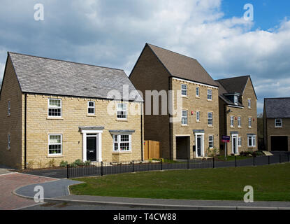 Garnett Wharfe, new housing development, Otley, West Yorkshire, England UK - Stock Image