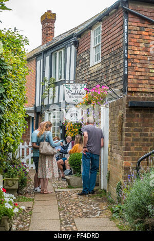 The Cobbles,Tea Room,Rye,Town,East Sussex,England,UK - Stock Image