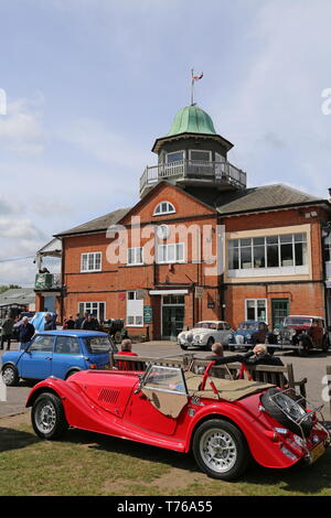 Morgan 4/4, British Marques Day, 28 April 2019, Brooklands Museum, Weybridge, Surrey, England, Great Britain, UK, Europe - Stock Image