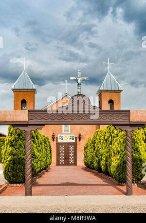 Iglesia de Santa Cruz (Holy Cross Church) in Santa Cruz, New Mexico, USA - Stock Image