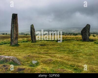 Machrie Moor Stone Circles, Isle of Arran, Scotland. UK. - Stock Image