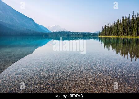 Emerald Lake in Yoho National Park - Stock Image