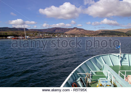 Approaching Brodick on the Isle of Arran, in the Firth of Clyde, Scotland, UK. - Stock Image