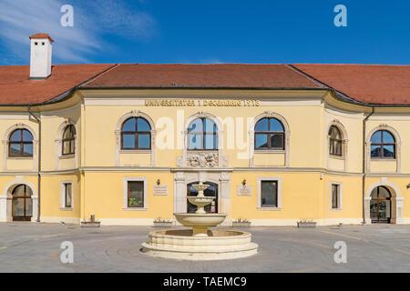 The 1 Decembrie 1918 University building in Alba Iulia, Romania. - Stock Image