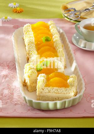 Mandarin orange slice - Stock Image