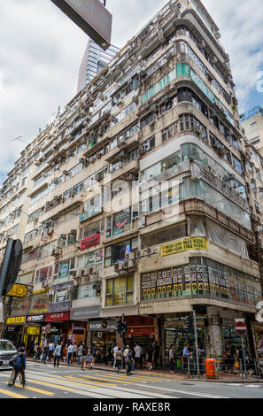 Buildings in the Wan Chai district of Hong Kong - Stock Image