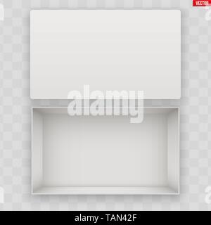 Blank of Open White Shoe Box - Stock Image