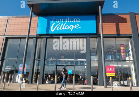 Furniture Village, Ladymead Retail Park, Guilford, Surrey, UK - Stock Image