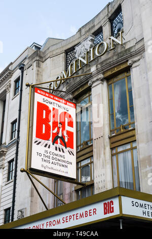 Advertisement for Big The Musical outside the Dominion Theatre in Tottenham Court Road. - Stock Image