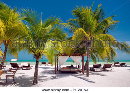Holbox island : on the beach (Mexico) - Stock Image