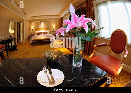 St. Regis Hotel Room, Beijing CN - Stock Image