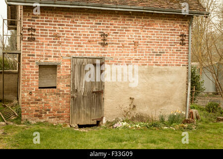 Weathered building facade. - Stock Image