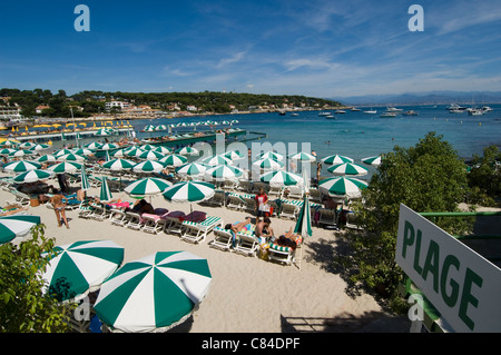 Cap d'Antibes, Garoup Beach, High Summer - Stock Image