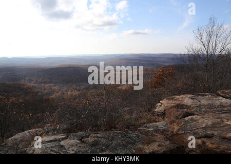 Scenic overlook, Harriman State Park, Sloatsburg, NY, USA - Stock Image