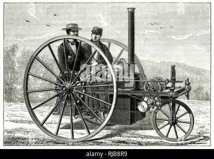 Steam carriage, Palmer system. - Stock Image
