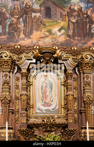 inside the coyoacan church, Mexico City, December 2016 - Stock Image