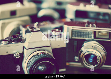 retro cameras - Stock Image