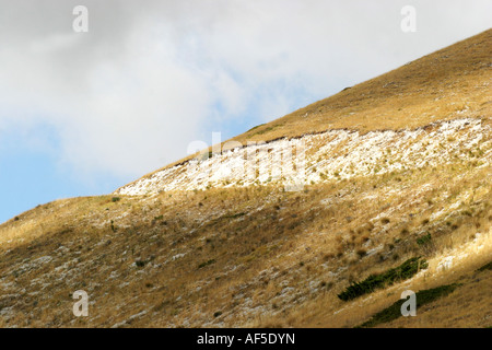 Slope of Monte Sibilla in the Sibillini National Park Le Marche Italy - Stock Image