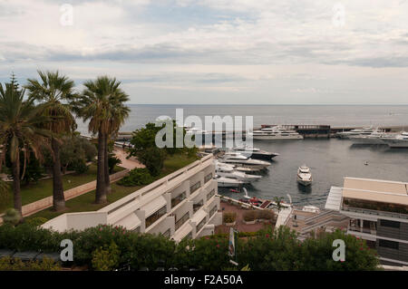 Inner streets and roads of Monaco, France - Stock Image