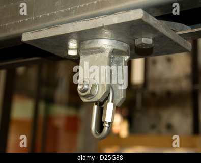 A schakle in a workshop. - Stock Image