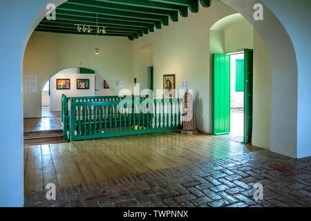 Main hall, Fort Conde de Mirasol Museum (ca. 1845), Isabel Segunda, Vieques, Puerto Rico - Stock Image