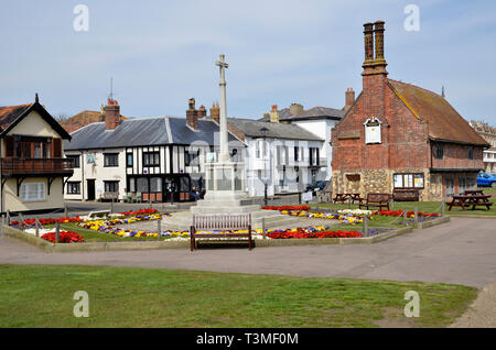 The 16th Century Moot Hall in the Suffolk Coastal Town of Aldeburgh - Stock Image