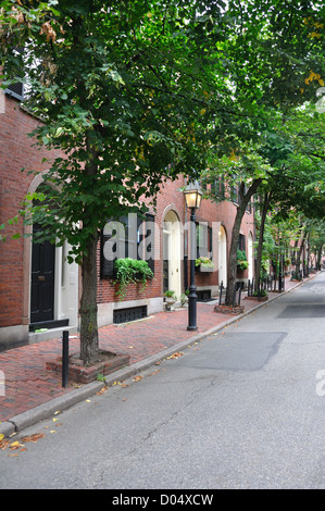 Beacon Hill, Boston, Massachusetts, USA - Stock Image