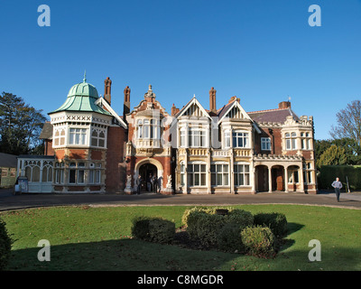 The Mansion, Bletchley Park, Bletchley. Home of the WWII code breakers who cracked Enigma and other codes. - Stock Image
