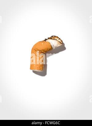 A cigarette butt - Stock Image