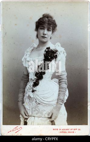 Portrait of Sarah Bernhardt, 1878, by Nadar - Stock Image