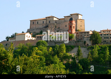 Historic Castello di Frontone art centre in Le Marche ,Italy, is a venue for photographic and general exhibitions - Stock Image