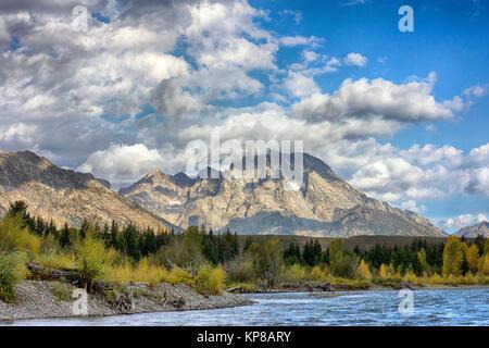 Snake River, Grand Teton, Wyoming, Jackson Hole, USA - Stock Image